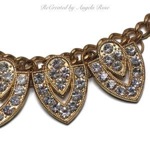 Stunning Copper Tone/Rhinestone Statement Necklace
